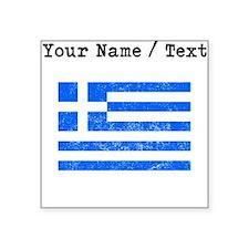 Custom Distressed Greece Flag Sticker