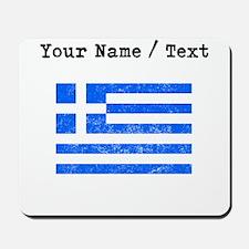Custom Distressed Greece Flag Mousepad