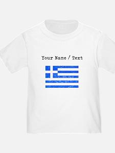 Custom Distressed Greece Flag T-Shirt