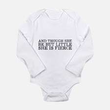 She is Fierce Long Sleeve Infant Bodysuit