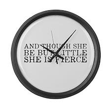 She is Fierce Large Wall Clock
