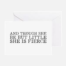 She is Fierce Greeting Card