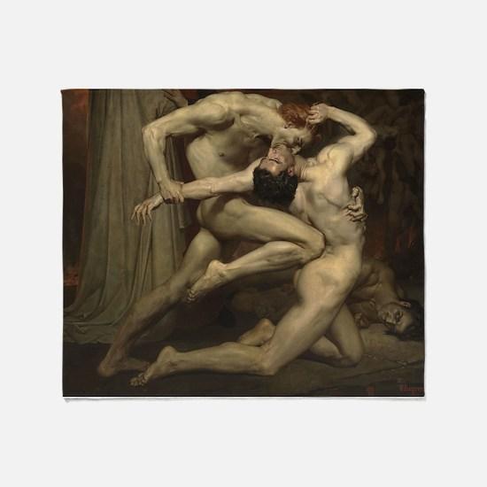 Dante and Virgil in Hell Throw Blanket
