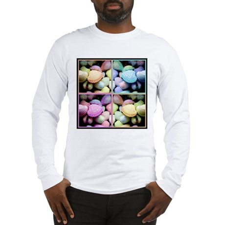 SHELLS X4 cafe press tee shirt 10x10 Long Sleeve T