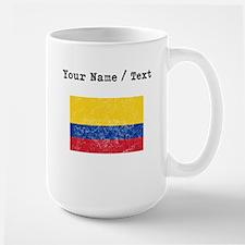 Custom Distressed Colombia Flag Mugs