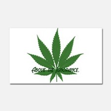 ABOVE THE IGNORANCE Car Magnet 20 x 12