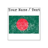Bangladesh flag Square