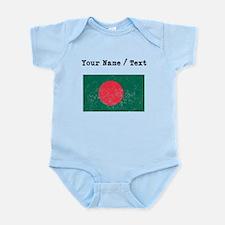 Custom Distressed Bangladesh Flag Body Suit