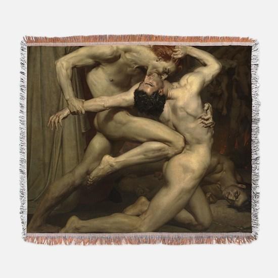 William Bouguereau: Dante and Virgi Woven Blanket