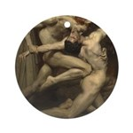 William Bouguereau: Dante and Virgi Round Ornament