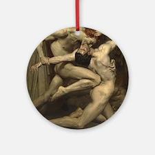 William Bouguereau: Dante and Virgi Round Ornament