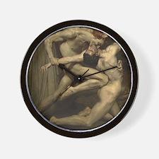 William Bouguereau: Dante and Virgil Wall Clock