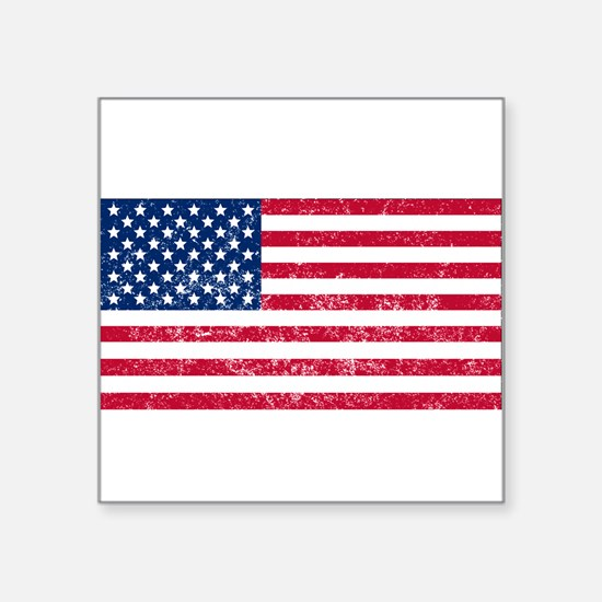 Distressed United States Flag Sticker