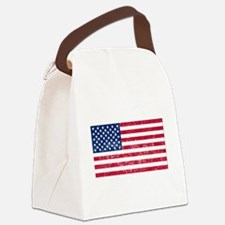 Distressed United States Flag Canvas Lunch Bag