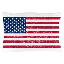 Distressed United States Flag Pillow Case