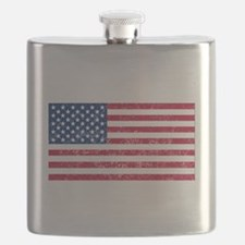 Distressed United States Flag Flask