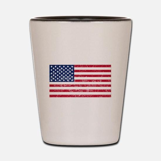 Distressed United States Flag Shot Glass