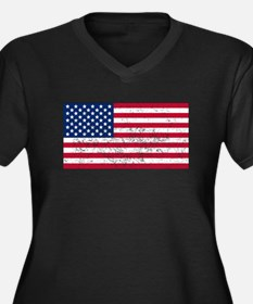 Distressed United States Flag Plus Size T-Shirt