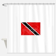 Distressed Trinidad and Tobago Flag Shower Curtain