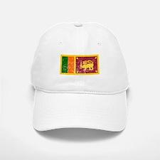 Distressed Sri Lanka Flag Baseball Baseball Baseball Cap