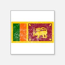 Distressed Sri Lanka Flag Sticker