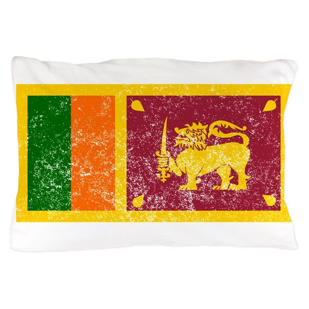 Distressed sri lanka flag pillow case by worldwideflags for Sri lanka flag coloring page