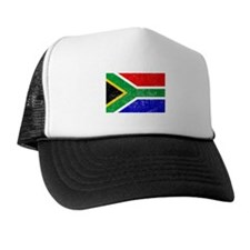 Distressed South Africa Flag Trucker Hat