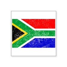 Distressed South Africa Flag Sticker