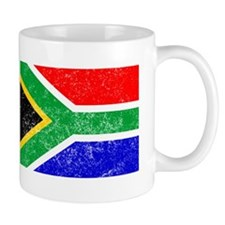 Distressed South Africa Flag Mugs