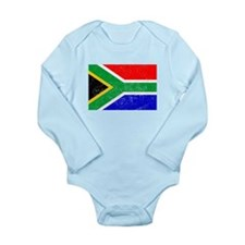 Distressed South Africa Flag Body Suit