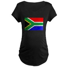 Distressed South Africa Flag Maternity T-Shirt