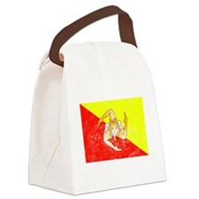 Distressed Sicily Flag Canvas Lunch Bag