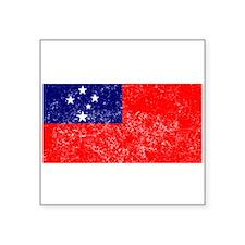 Distressed Samoa Flag Sticker