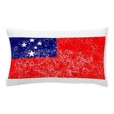 Distressed Samoa Flag Pillow Case