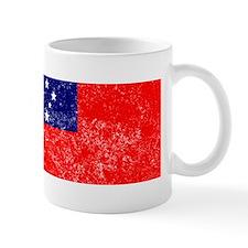 Distressed Samoa Flag Mugs