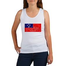 Distressed Samoa Flag Tank Top