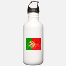 Distressed Portugal Flag Water Bottle