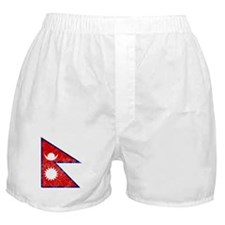Distressed Nepal Flag Boxer Shorts