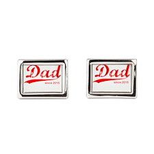 Dad Since 2015 Rectangular Cufflinks