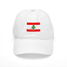 Distressed Lebanon Flag Baseball Baseball Cap