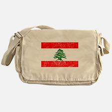 Distressed Lebanon Flag Messenger Bag