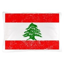 Distressed Lebanon Flag Pillow Case