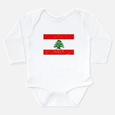 Distressed Lebanon Flag Body Suit