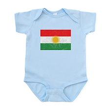 Distressed Kurdistan Flag Body Suit