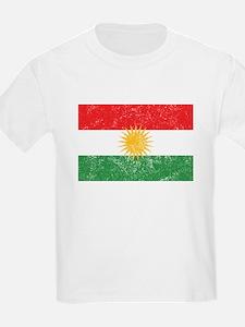 Distressed Kurdistan Flag T-Shirt