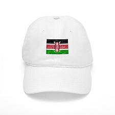 Distressed Kenya Flag Baseball Baseball Cap