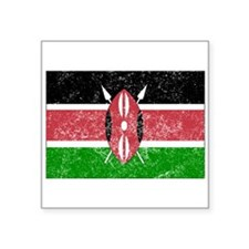 Distressed Kenya Flag Sticker