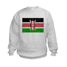 Distressed Kenya Flag Sweatshirt