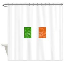 Distressed Ireland Flag Shower Curtain