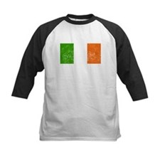 Distressed Ireland Flag Baseball Jersey